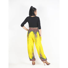 Load image into Gallery viewer, Peacock 168 women harem pants in Yellow PP0004 020168 04