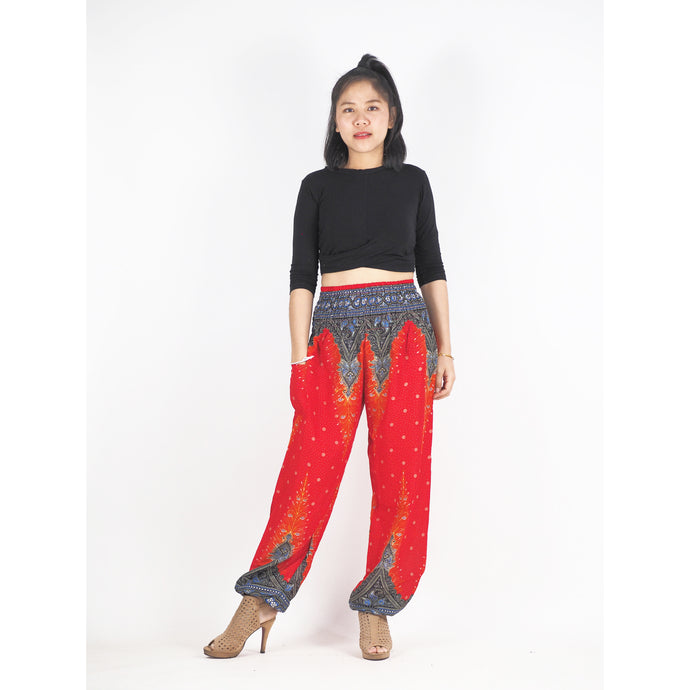 Peacock 168 women harem pants in Red PP0004 020168 07
