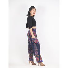 Load image into Gallery viewer, Love stripe 188 women harem pants in Navy Blue PP0004 020188 01