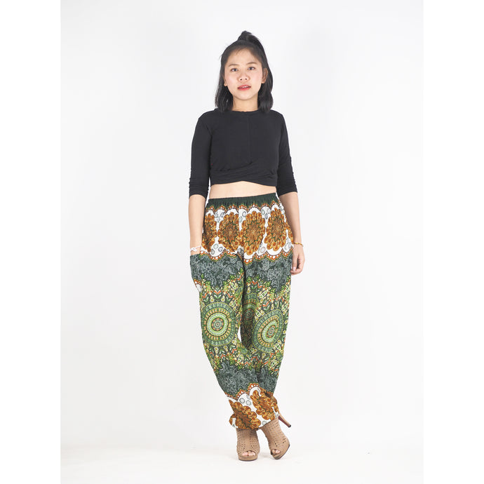 Mandala 196 women harem pants in Green PP0004 020196 06