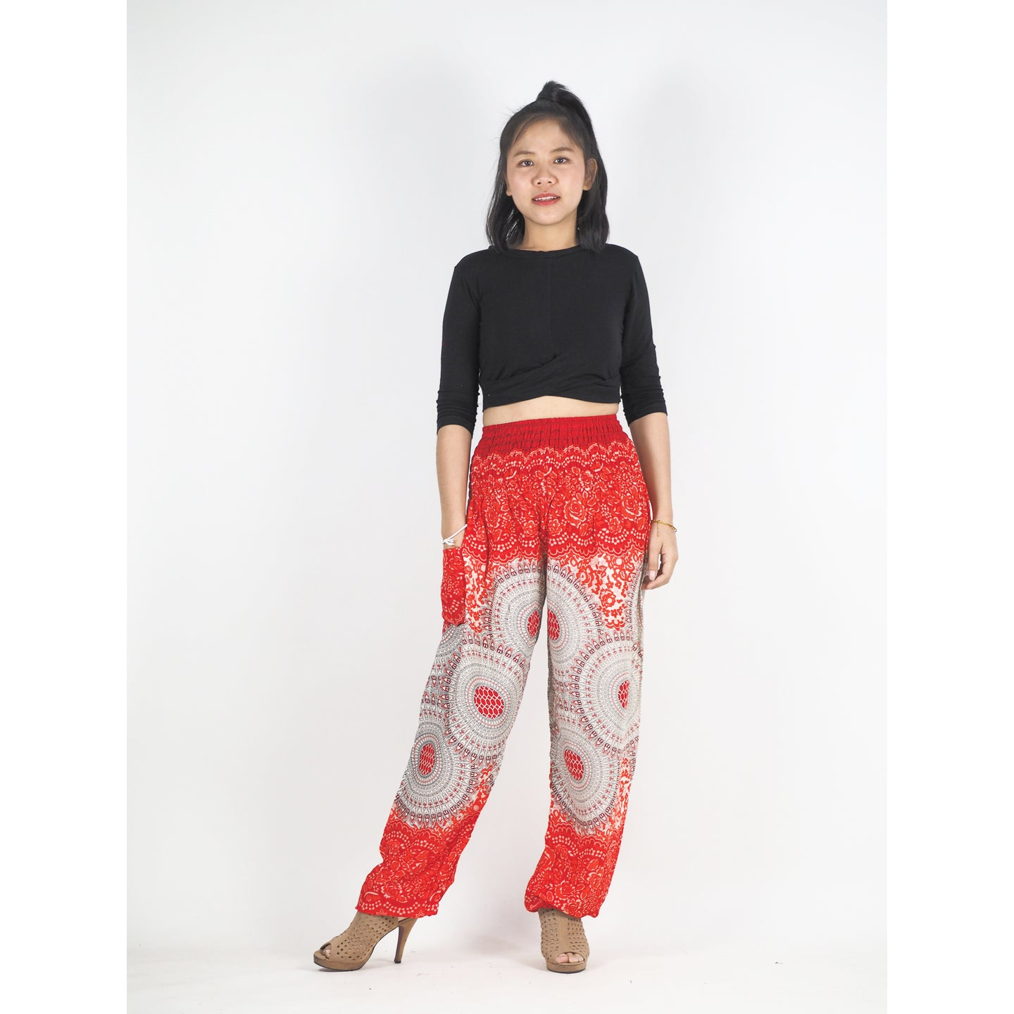 Mandala 210 women harem pants in Orange PP0004 020210 06