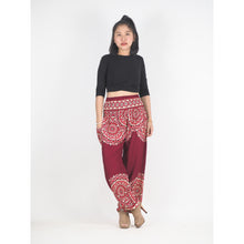 Load image into Gallery viewer, Stained Glass Mandala 214 women harem pants in Red PP0004 020214 04
