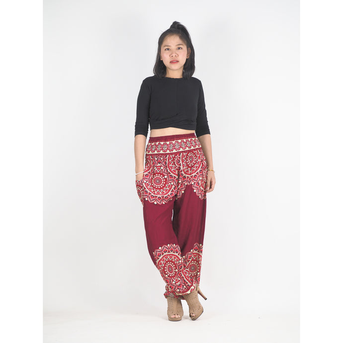 Stained Glass Mandala 214 women harem pants in Red PP0004 020214 04