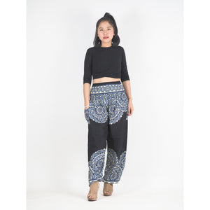 Stained Glass Mandala 214 women harem pants in Black PP0004 020214 05