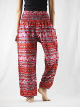 Load image into Gallery viewer, Cute stripes 88 women harem pants in Red PP0004 020088 02