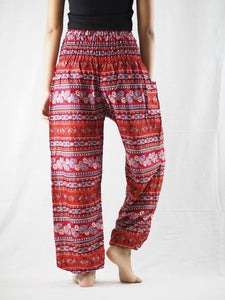 Cute stripes 88 women harem pants in Red PP0004 020088 02