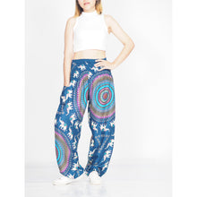 Load image into Gallery viewer, World elephant 115 women harem pants in Ocean blue PP0004 020115 04
