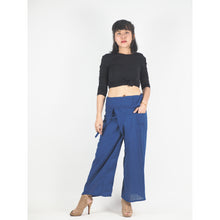 Load image into Gallery viewer, Solid color Unisex Fisherman Yoga Long Pants in Bright Navy PP0007 010000 07