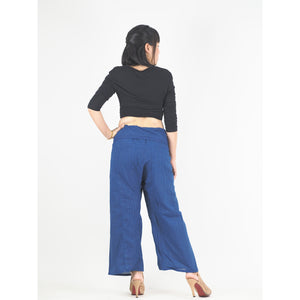 Solid color Unisex Fisherman Yoga Long Pants in Bright Navy PP0007 010000 07