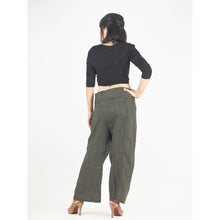 Load image into Gallery viewer, Solid color Unisex Fisherman Yoga Long Pants in Olive PP0007 010000 13