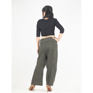 Solid color Unisex Fisherman Yoga Long Pants in Olive PP0007 010000 13