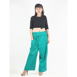 Solid color Unisex Fisherman Yoga Long Pants in Green PP0007 010000 20