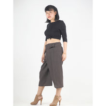 Load image into Gallery viewer, Solid color Unisex Fisherman Yoga Shorts Pants in Dark Brown PP0027 010000 16