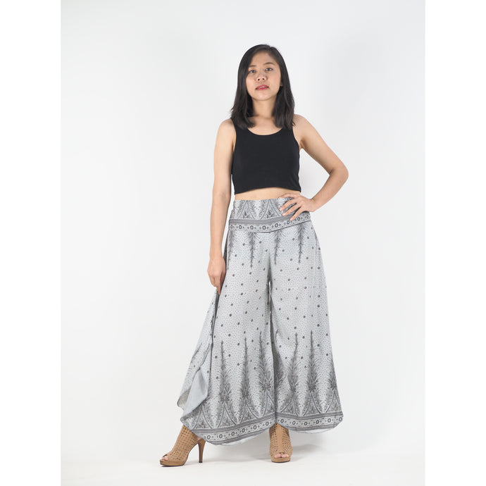 Peacock Feather Dream Women's Palazzo Pants in Cloud PP0037 020015 14