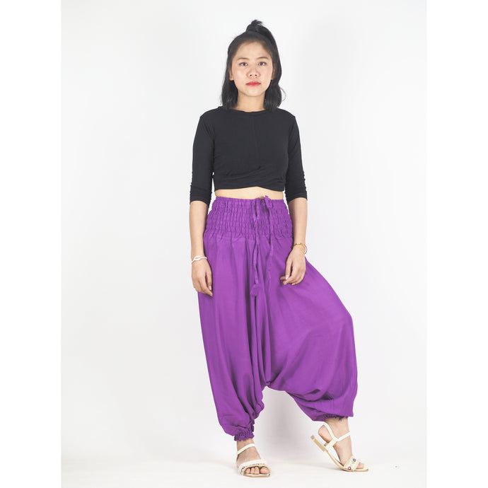 Solid color Unisex Aladdin drop crotch pants in Violet PP0056 020000 14