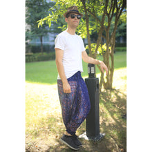 Load image into Gallery viewer, Peacock Unisex Aladdin drop crotch pants in Navy Blue PP0056 020007 05