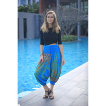 Load image into Gallery viewer, Peacock Unisex Aladdin drop crotch pants in Blue PP0056 020008 06
