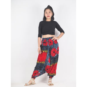 Tie dye Unisex Aladdin drop crotch pants in Black PP0056 020040 01