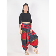 Load image into Gallery viewer, Tie dye Unisex Aladdin drop crotch pants in Black PP0056 020040 01