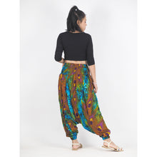 Load image into Gallery viewer, Wild feathers Unisex Aladdin drop crotch pants in Blue PP0056 020073 01