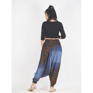 Middle east  Unisex Aladdin drop crotch pants in Navy blue PP0056 020106 06
