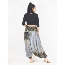 Load image into Gallery viewer, Large Paisley Unisex Aladdin drop crotch pants in White PP0056 020124 04