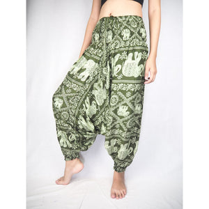 Elephant classic  Unisex Aladdin drop crotch pants in Green PP0056 020029 04