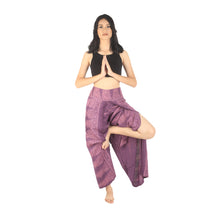 Load image into Gallery viewer, Peacock Feather Dream Women Palazzo Pants in Purple PP0076 020015 04