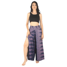 Load image into Gallery viewer, Peacock Feather Dream Women Palazzo Pants in Navy PP0076 020015 07