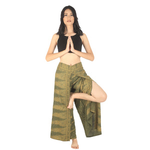 Peacock Feather Dream Women Palazzo Pants in Green PP0076 020015 10