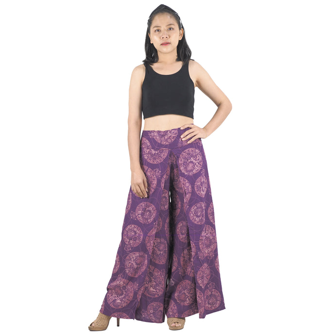 Floral Classic Women Palazzo Pants in Purple PP0076 020098 10