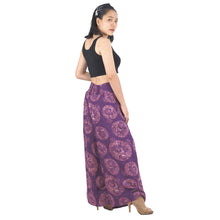 Load image into Gallery viewer, Floral Classic Women Palazzo Pants in Purple PP0076 020098 10