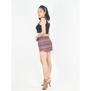 Colorful Stripes Women's Shorts Pants in Pink PP0107 020006 01