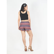 Load image into Gallery viewer, Colorful Stripes Women's Shorts Pants in Pink PP0107 020006 01