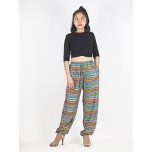 Load image into Gallery viewer, Colorful Stripes Unisex Drawstring Genie Pants in Yellow PP0110 020006 07