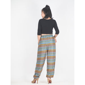 Colorful Stripes Unisex Drawstring Genie Pants in Yellow PP0110 020006 07