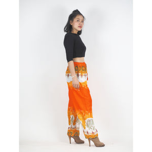 Solid Top Elephant Unisex Drawstring Genie Pants in Orange PP0110 020017 03