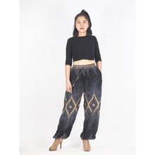 Load image into Gallery viewer, Big eye Unisex Drawstring Genie Pants in Black PP0110 020033 01