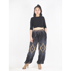 Big eye Unisex Drawstring Genie Pants in Black PP0110 020033 01