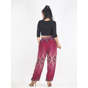 Big eye Unisex Drawstring Genie Pants in Red PP0110 020033 04