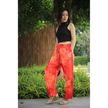 Load image into Gallery viewer, Tie dye Unisex Drawstring Genie Pants in Red PP0110 020038 01