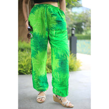 Load image into Gallery viewer, Tie dye Unisex Drawstring Genie Pants in Green PP0110 020038 02