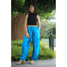Load image into Gallery viewer, Tie dye Unisex Drawstring Genie Pants in Blue PP0110 020038 03