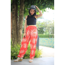 Load image into Gallery viewer, Tie dye Unisex Drawstring Genie Pants in Red PP0110 020039 01