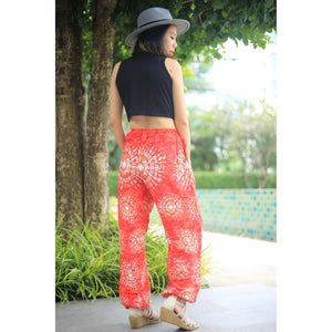 Tie dye Unisex Drawstring Genie Pants in Red PP0110 020039 01