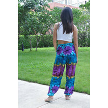 Load image into Gallery viewer, Tie dye Unisex Drawstring Genie Pants in Blue PP0110 020040 04