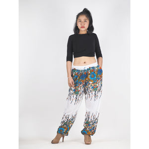 Flowers Unisex Drawstring Genie Pants in Navy Blue PP0110 020045 01
