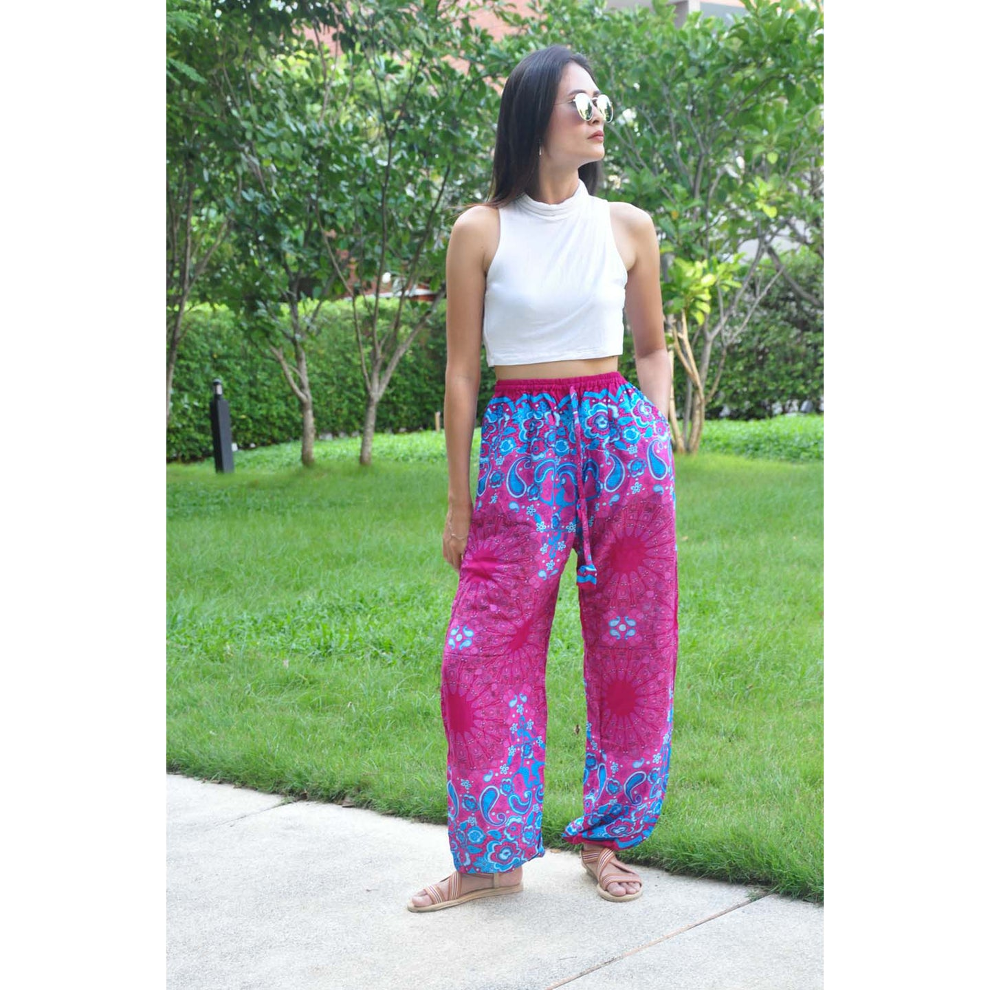 Sunflower Unisex Drawstring Genie Pants in Pink PP0110 020054 06