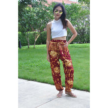 Load image into Gallery viewer, Tie dye Unisex Drawstring Genie Pants in Red PP0110 020055 02