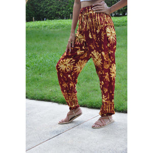Tie dye Unisex Drawstring Genie Pants in Red PP0110 020055 02